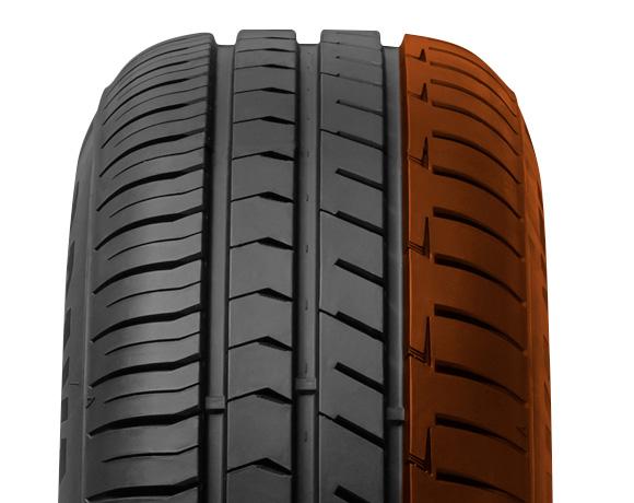 Inner block pattern on DX240 tyre