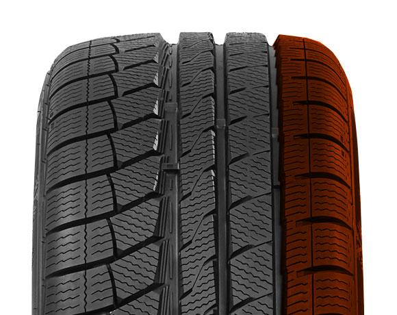 Inner block pattern on Wintoura+ tyre