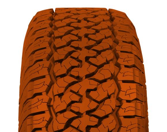 Centre block pattern on Terratoura A/T tyre