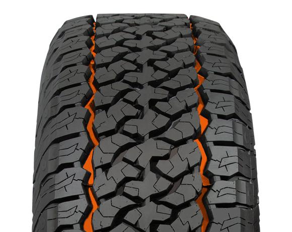 Inner block pattern on Terratoura A/T tyre
