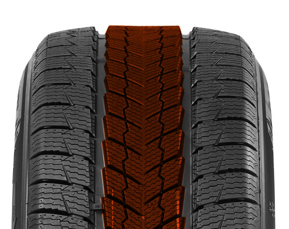 Outer block pattern on Wintoura SUV tyre