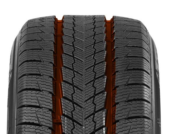 Centre block pattern on Wintoura SUV tyre